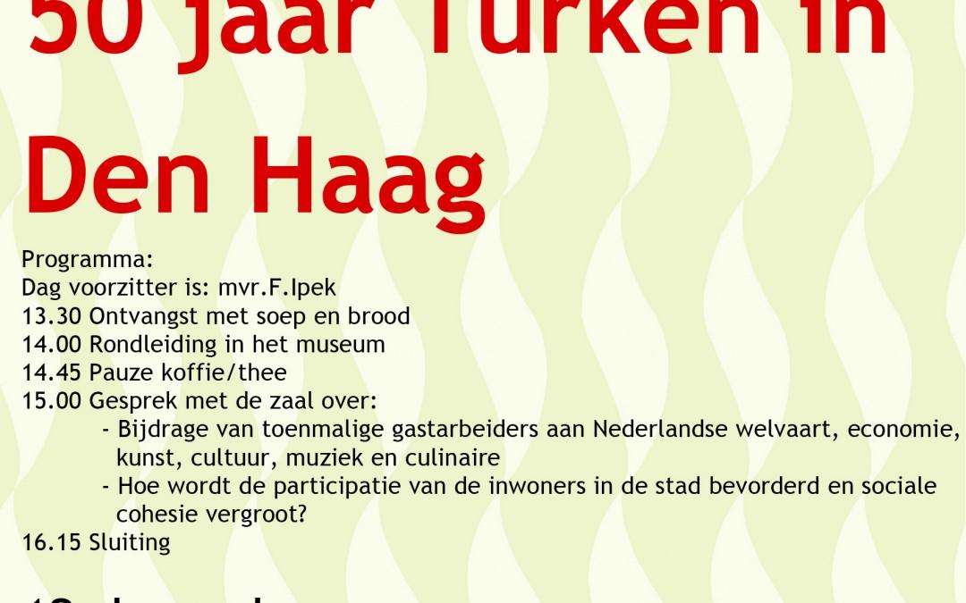 Uitnodiging bijeenkomst 50 jaar Turken in Den Haag